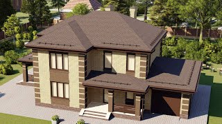 Проект дома 189-B, Площадь дома: 189 м2, Размер дома:  17,3x10,4 м