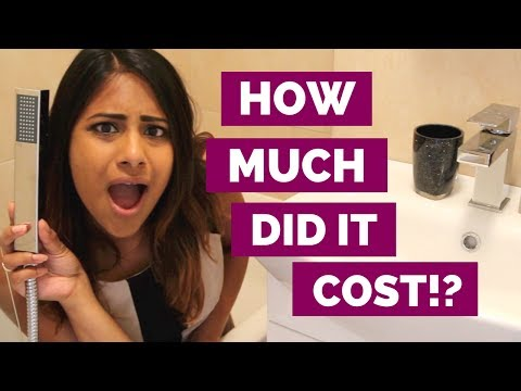 SMALL BATHROOM RENOVATION: Remodelling & Makeover Cost | FROM GRUB TO GLAM