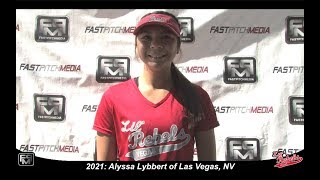 2021 Alyssa Lybbert Catcher & 3rd Base Softball Skills Video - Lil Rebels