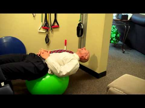 Low Back Exercise Ball Instructions