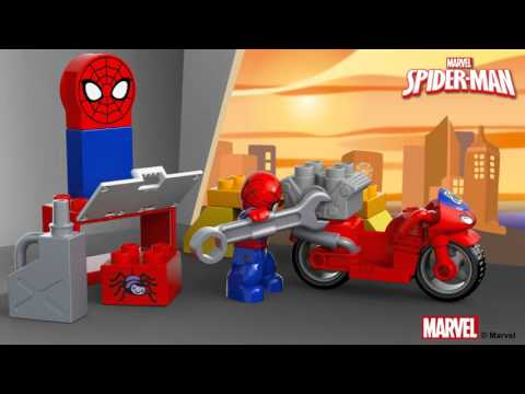 Vidéo LEGO Duplo 10607 : L'atelier de la moto-araignée de Spider-Man