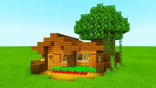 Minecraft Tutorial How To Make The Easiest Wooden Jungle House You Ve Ever Made Minecraftvideos Tv