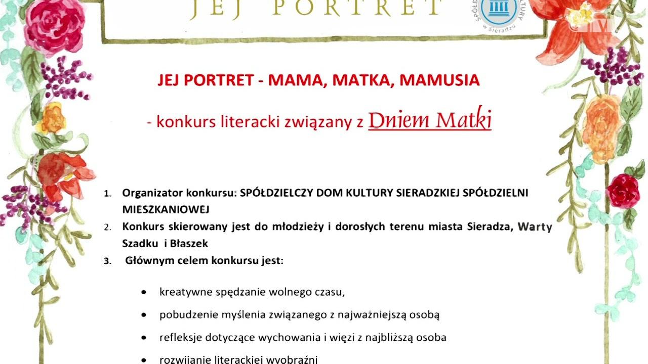 "Konkurs SDK ""JEJ PORTRET – MAMA, MATKA, MAMUSIA"""