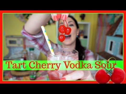 Video Tart Cherry Vodka Sour! | Pinterest Drink #143