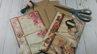 Part 1: Making An Envelope Journal; Junk Journal Booklet; Folio (Tutorial)