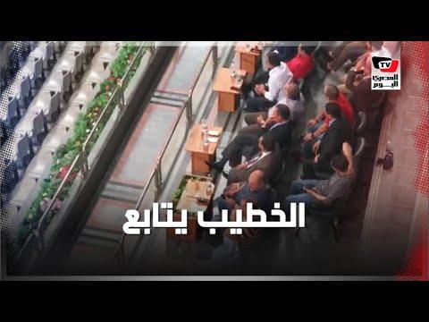 الخطيب يتابع مباراة الإسماعيلي والأهلي من مقصورة «برج العرب»