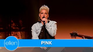 P!nk's Acoustic Performance of 'All I Know So Far'