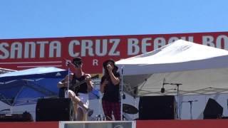 "Chris Rene & Gina Rene performing ""We're Still Here"" at the Santa Cruz Beach Boardwalk 9/20/15"