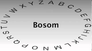 SAT Vocabulary Words and Definitions — Bosom