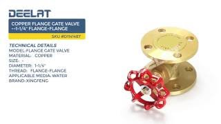 Copper Flange Gate Valve--1-1/4