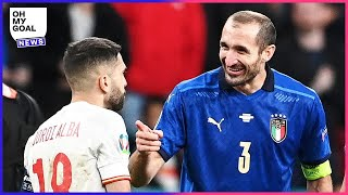 What Chiellini said to Jordi Alba before the penalty shootout | Oh My Goal