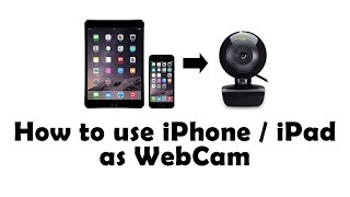How to use iPhone / iPad as Webcam