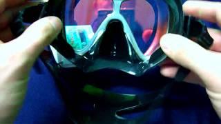 Маска для подводной охоты SeaDive Cateye-1 SS янтарные, просветленные линзы от компании МагазинCalipso dive shop - видео 2