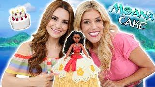 MAKING A MOANA PRINCESS CAKE! w/ Rebecca Zamolo
