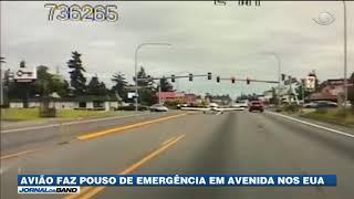 Avião faz pouso de emergência em avenida nos Estados Unidos