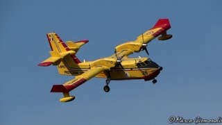 preview picture of video 'Protezione Civile Canadair CL-415 [I-DPCI] beautiful approach @ Rome Ciampino Airport'