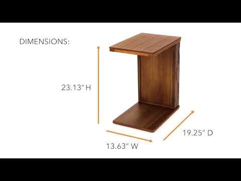 medium brown furniture tamonie chairside end table ashley furniture homestore