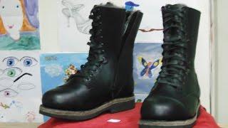 Making super warm Natural winter boots \ Делаем зимние берцы