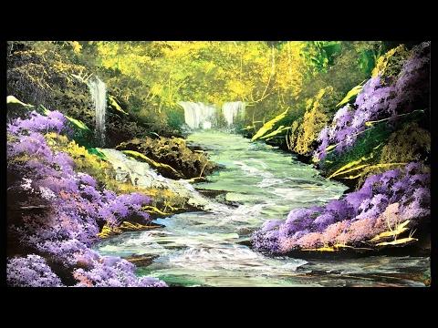Spray Paint Art - The Joy of Spray - Spray Painting Forest and Stream