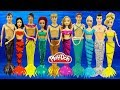 Куклы Принцессы Диснея Русалки Наряды русалок из Плей До Поделки из пластилина Play Doh Игрушки 1