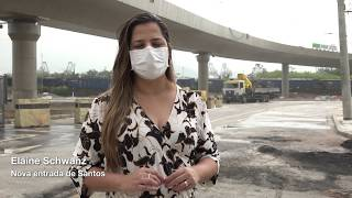 Nova Entrada de Santos - Obras do viaduto se aproximam da conclusão