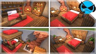 Minecraft: 5 Medieval Bedroom Designs Ideas For 1.14
