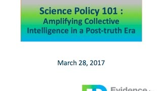 Science Policy 101 - Webinar with Jeff Kinder