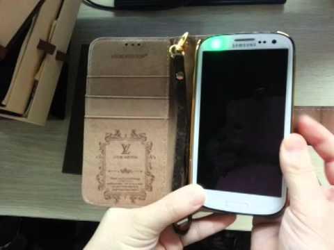 BURBERRY GUCCI LV LOUIS VUITTON LEDER ETUI MIT SEIL SCHUTZHÜLLE für Samsung Galaxy S3