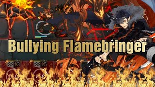 Flamebringer  - (Arknights) - [Arknights] Cheesing Obsidian Festival, But the bullying on Flamebringer gets worse every stage