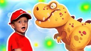 Игра про Динозавров для Детей Защищаем Яйцо от Траглодитов #23 Мультик про Динозавров Lion boy