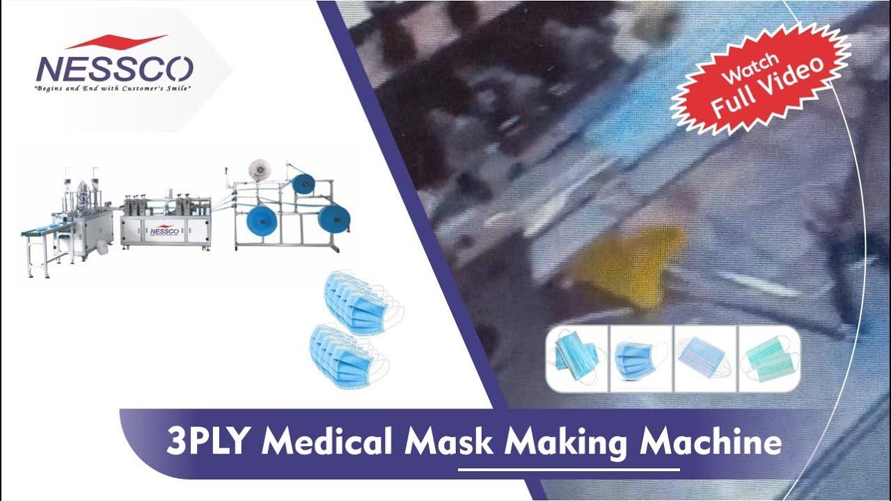 Medical Mask Machine     3 PLY Mask Machine    Mask Machine