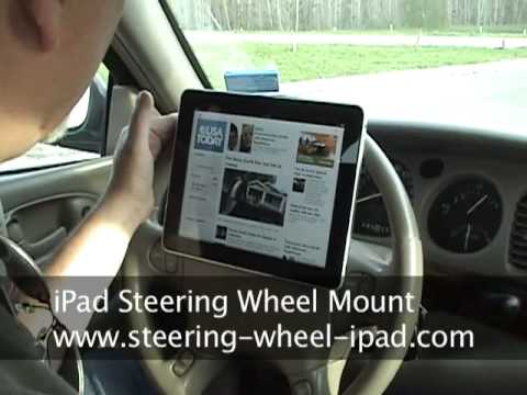 This Steering Wheel iPad Mount Is A Safety Enhancement