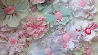 Chic And Cheap Shabby Cute Fabric Flowers
