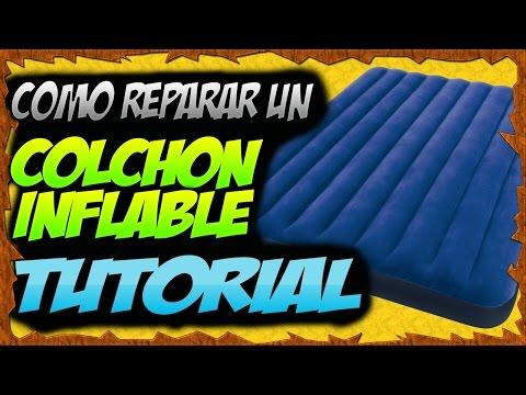 Como reparar un colchón inflable (paso a paso)