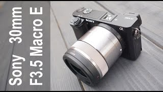 Sony 30mm f3.5 Macro Lens Tested and Reviewed on the Sony a6000 a6300 Camera