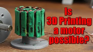 Is 3D Printing a motor possible? (Experiment)