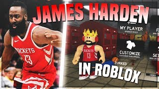 JAMES HARDEN IN ROBLOX? RB WORLD 2 JAMES HARDEN GAME PLAY!