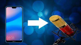 Как сделать крутой  микрофон из телефона!