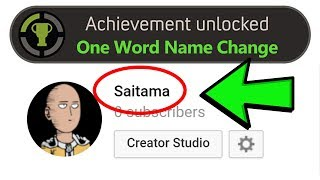 How To Get A 1 Word Channel Name on Youtube | Working 2020 Method