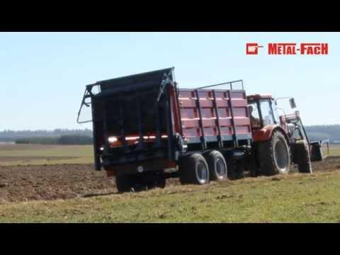 Metal-Fach TOP-AGRO AKTIONSPREIS N280/2 10000kg 11m³ MISTSTREUER mit offene Bordwände !!NEU!!