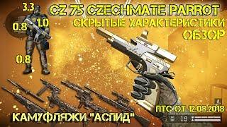 """Warface. CZ 75 PARROT. Камуфляжи """"Аспид"""". ПТС от 12.08.2018"""