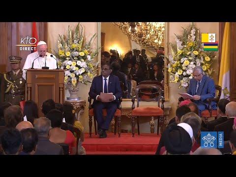 Rencontre du pape François avec les autorités de Maurice