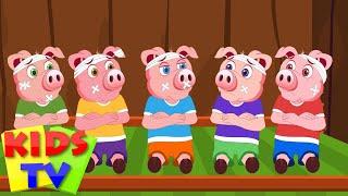 Kids TV Nursery Rhymes - Five Little Piggies Nursery Rhyme