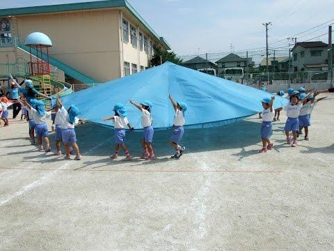 140910福岡市・飯倉幼稚園「運動会の練習&給食ランチタイム」