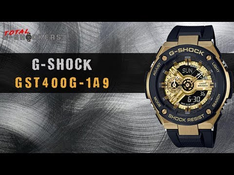 Men's Casio G-Shock G-STEEL Gold & Black Watch | GST400G-1A9 Top 10 Watch Review