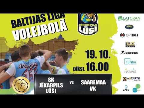 Credit 24 Baltijas līga volejbola: SK Jēkabpils Lūši vs VK Saaremaa (19.10.2019)