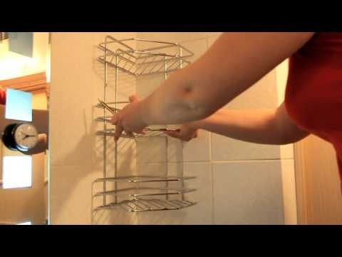 Полки в ванной женскими руками