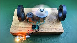 How to make free energy generator with magnet & DC motor , Amazing new idea 2018