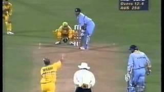 Sachin Tendulkar perfect reply to loudmouth Australia 1996 WORLD CUP AMAZING