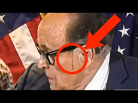 Rudy Giuliani's Hair Begins Melting During Press Conference
